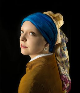 Photo tribute to Vermeer's Girl with a Pearl Earring